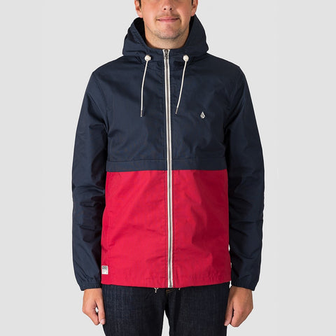 Volcom Howard Hooded Jacket Burgundy