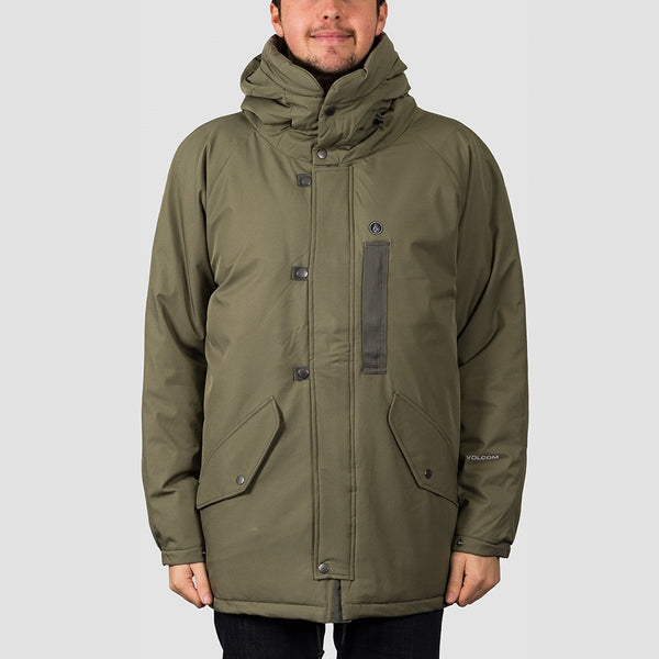 Volcom Interzone 5K Jacket Army Green Combo - Clothing
