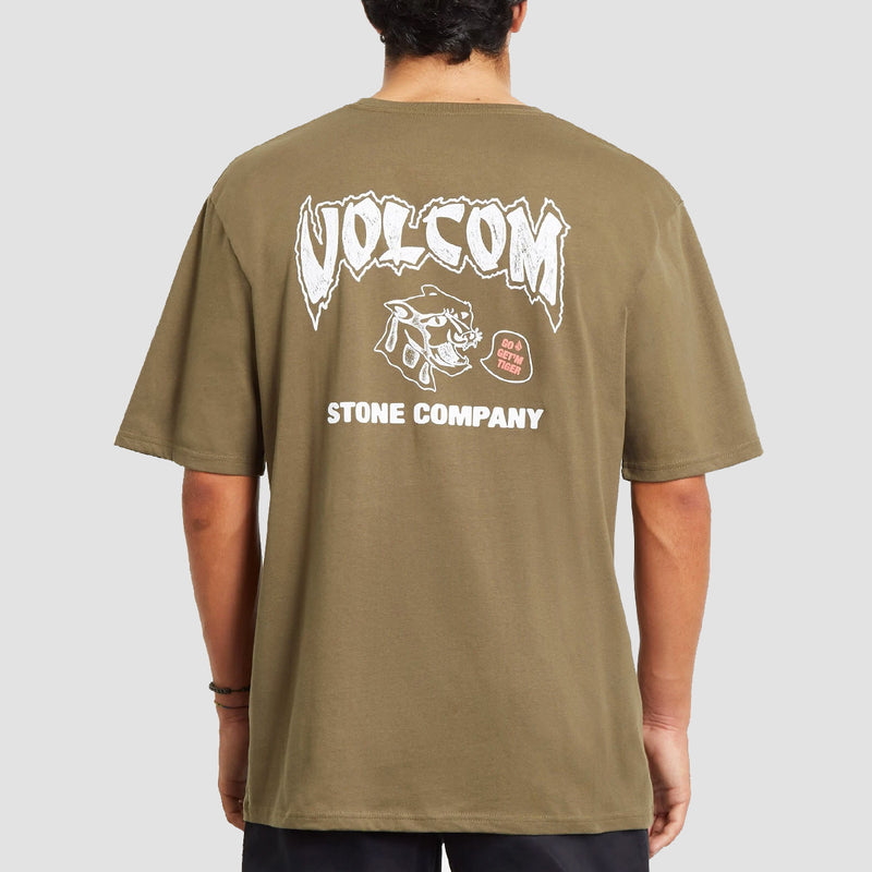 Volcom Kittykat Relaxed Fit Tee Military