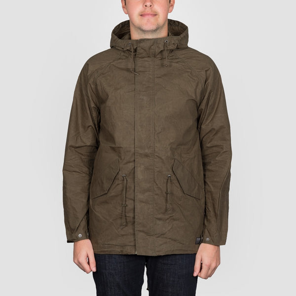 Volcom Lane Parka Jacket Seaweed Green - Clothing