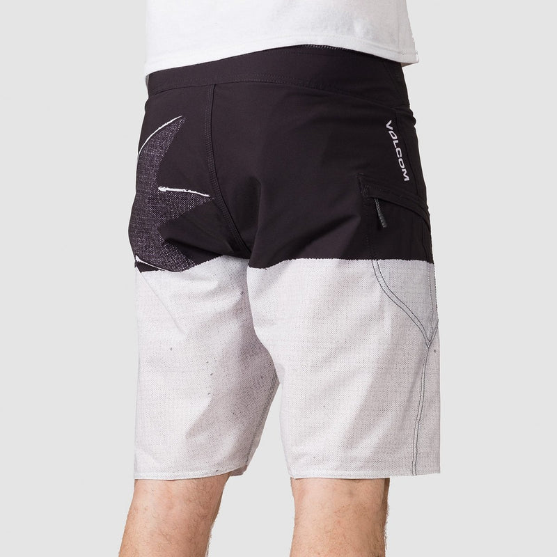 Volcom Lido Block Mod 21 Boardshorts Black/White - Clothing