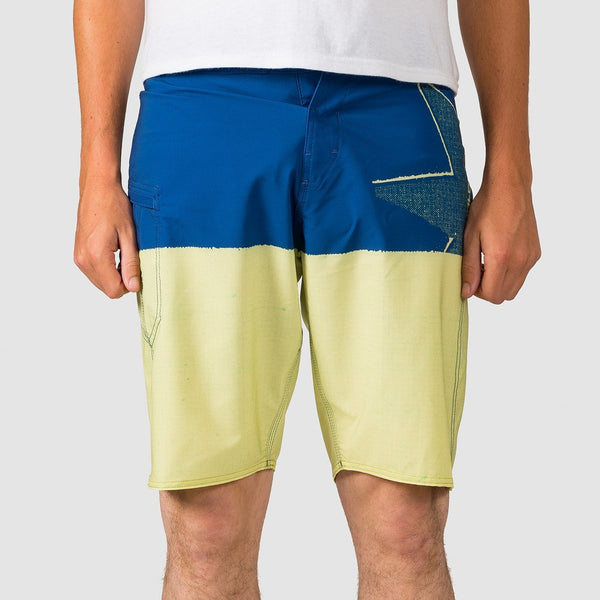 Volcom Lido Block Mod 21 Boardshorts Shadow/Lime Yellow - Clothing