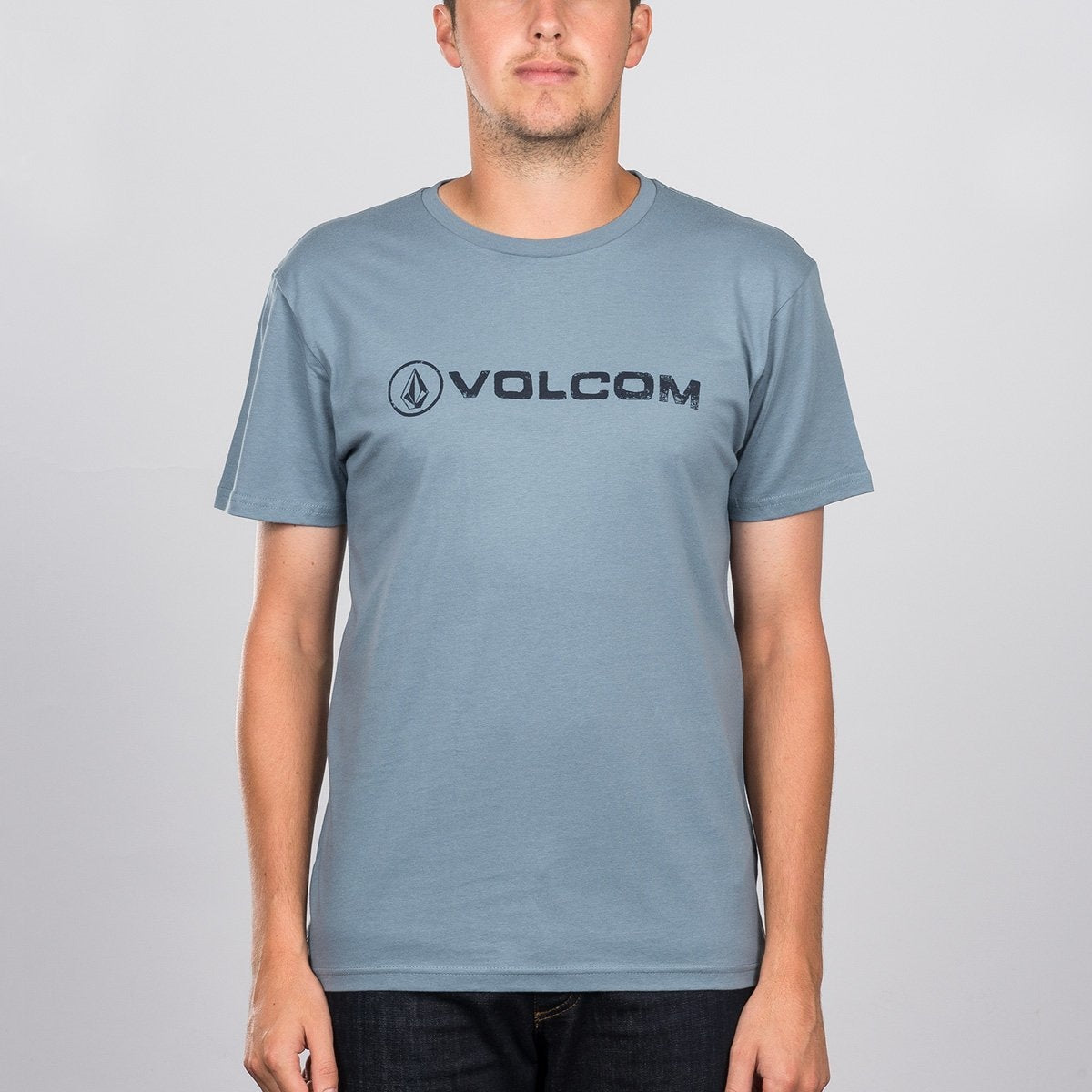 Volcom Lido Euro T-Shirt Ash Blue - Clothing
