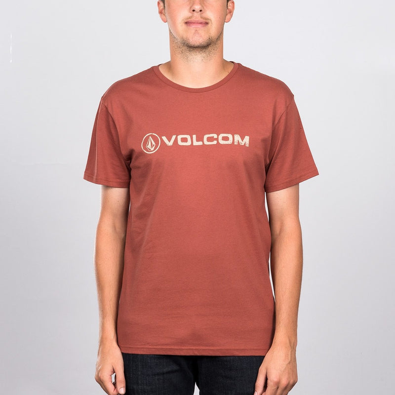 Volcom Lido Euro T-Shirt Dark Clay - Clothing
