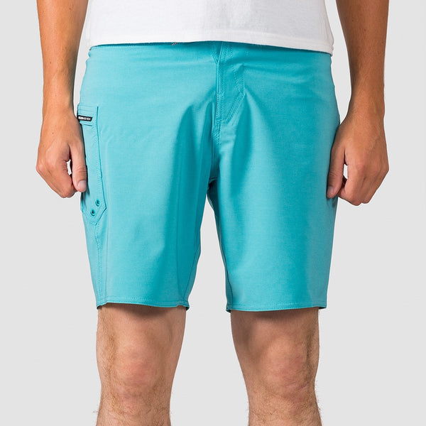 Volcom Lido Solid Mod 18 Boardshorts Cyan Blue - Clothing