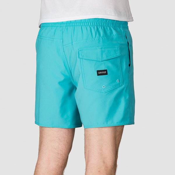 Volcom Lido Trunks 16 Boardshorts Cyan Blue - Clothing