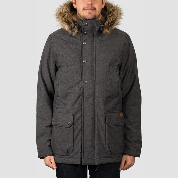 Volcom Lidward 5K Jacket Heather Black - Clothing