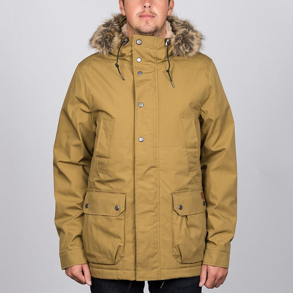 Volcom Lidward Parka Jacket Burnt Khaki - Clothing
