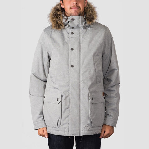 Volcom Lidward Parka Jacket Light Grey