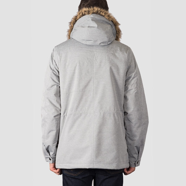Volcom Lidward Parka Jacket Light Grey - Clothing