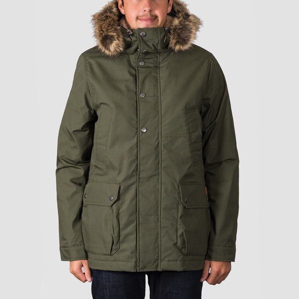 Volcom Lidward Parka Jacket Military - Clothing