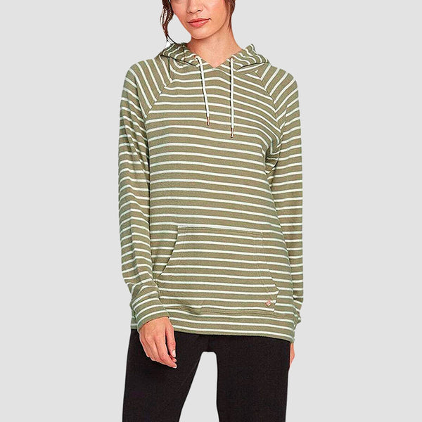 Volcom Lil Pullover Hood Dusty Green - Womens