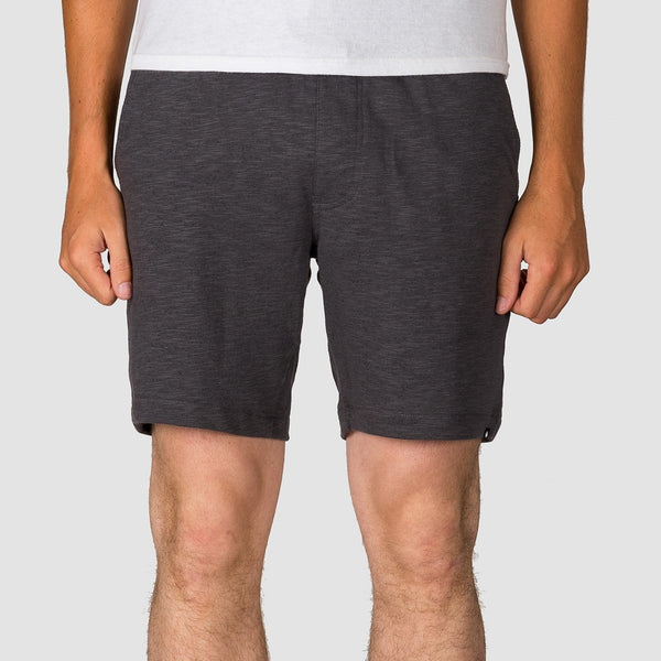 Volcom Litewarp Fleece Sweat Shorts Heather Black - Clothing