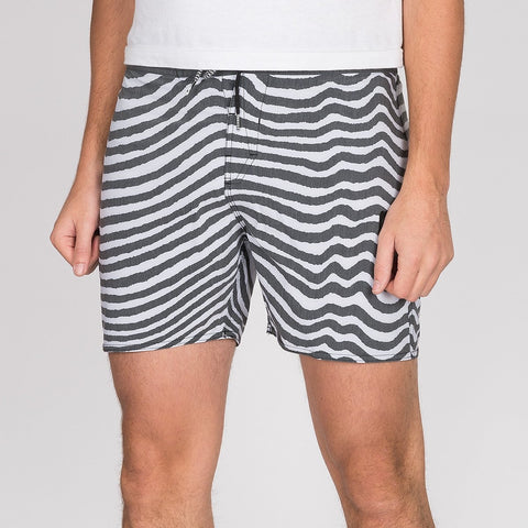 "Volcom Mag Vibes Stoney 16"" Boardshorts Black/White"