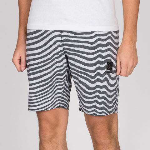 "Volcom Mag Vibes Stoney 19"" Boardshort Black/White"