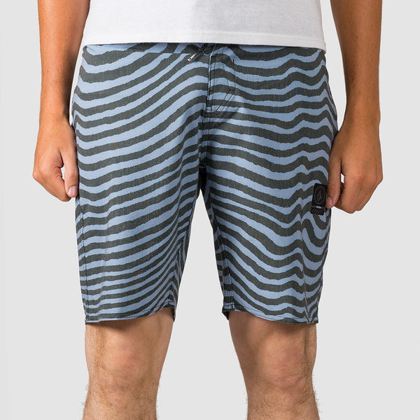 Volcom Mag Vibes Stoney 19 Boardshorts Stone Blue - Clothing