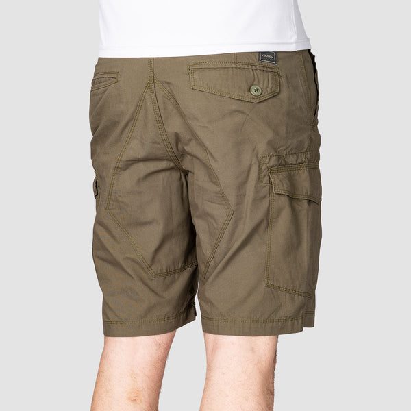 Volcom Miter II Cargo Shorts Army Green Combo