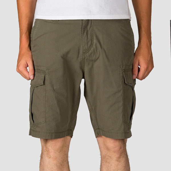 Volcom Miter II Cargo Shorts Dark Olive - Clothing