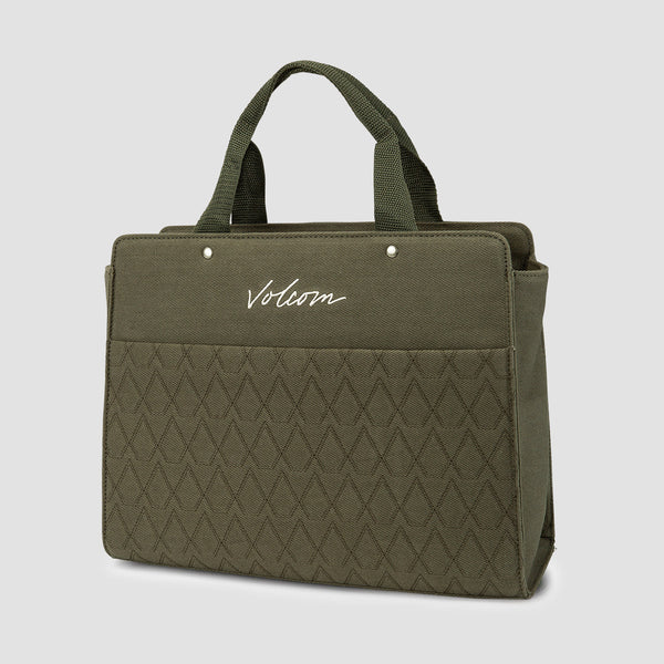 Volcom Multistone Bag Army Green Combo - Womens