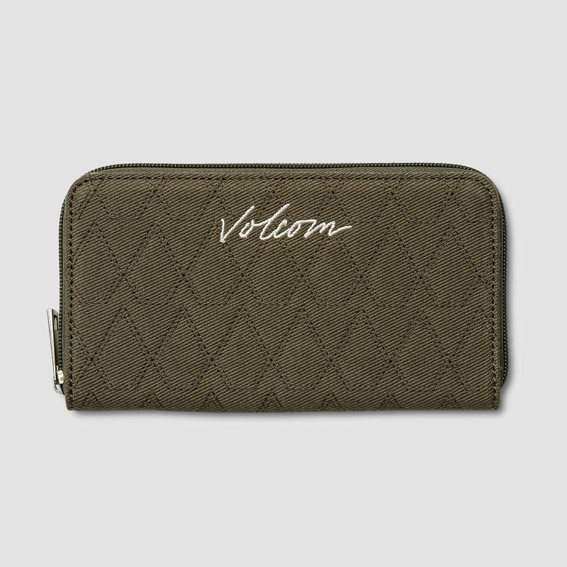 Volcom Multistone Wallet Army Green Combo - Womens