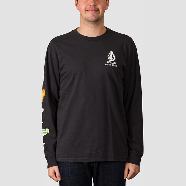 Volcom New High Score Longsleeve Tee Black - Clothing