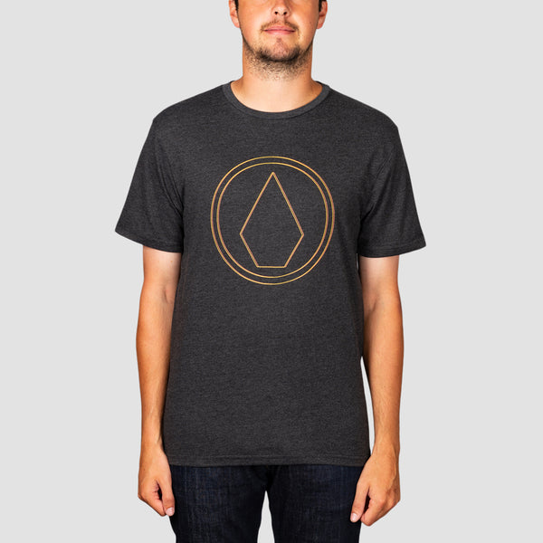 Volcom Pinner Heather Tee Heather Black