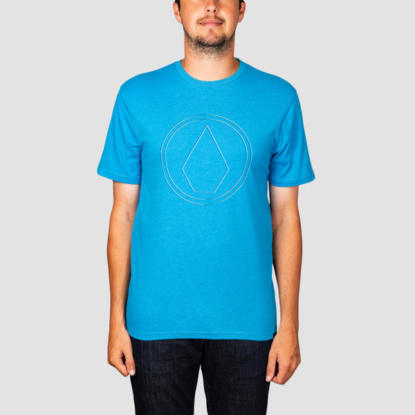 Volcom Pinner Heather Tee True Blue