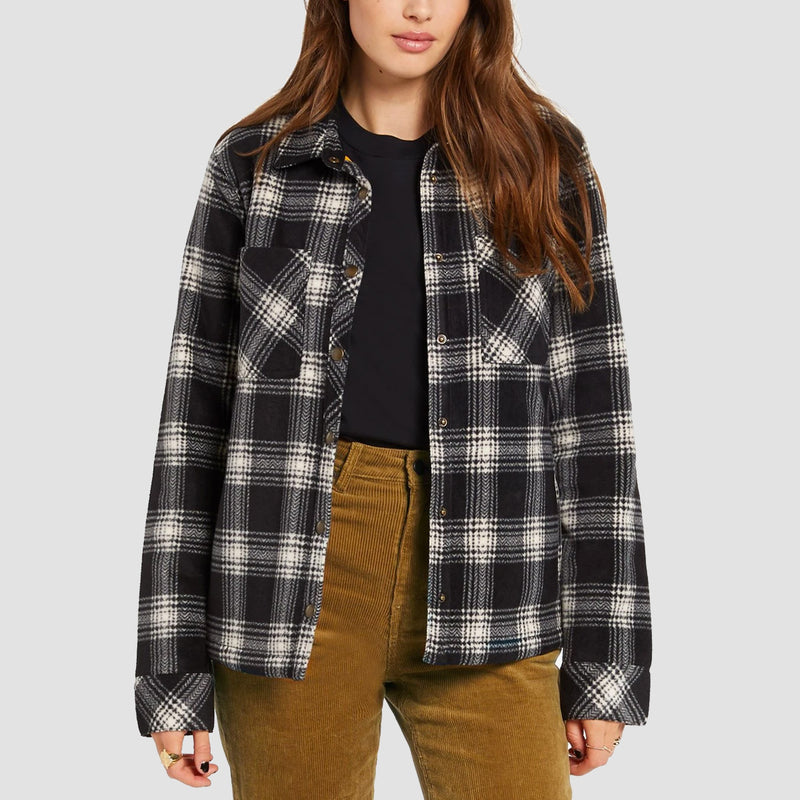 Volcom Plaid Dreams Jacket Sand - Womens
