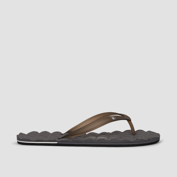 Volcom Recliner Rubber 2 Sandals Black Grey