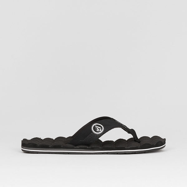Volcom Recliner Sandal Black White - Footwear