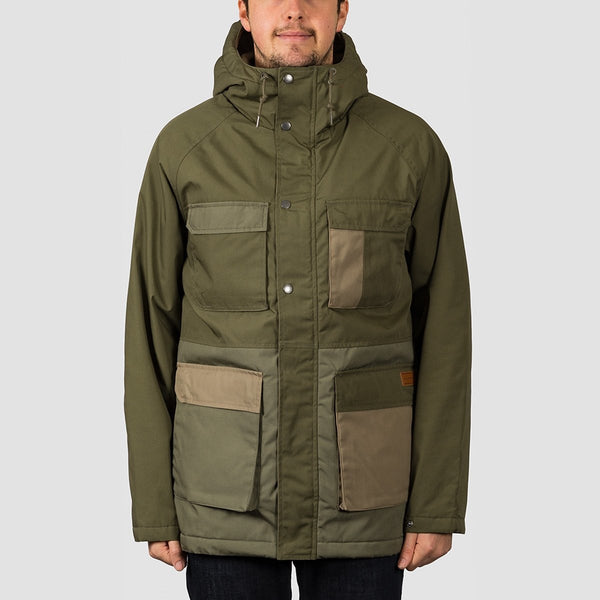 Volcom Renton Winter 5K Jacket Army Green Combo - Clothing