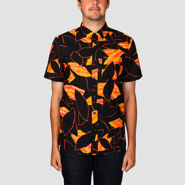 Volcom Secret Leaf Short Sleeve Shirt Black