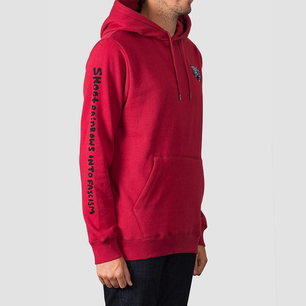 Volcom Shoots Pullover Hood Burgundy Heather - Clothing
