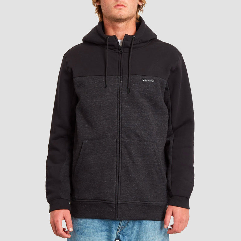 Volcom Single Stone Division Lined Zip Hood Heather Black