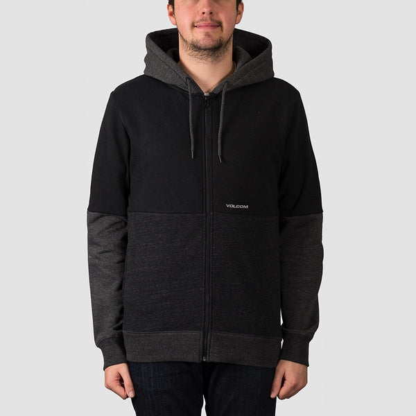 Volcom Single Stone Division Zip Hood Black - Clothing