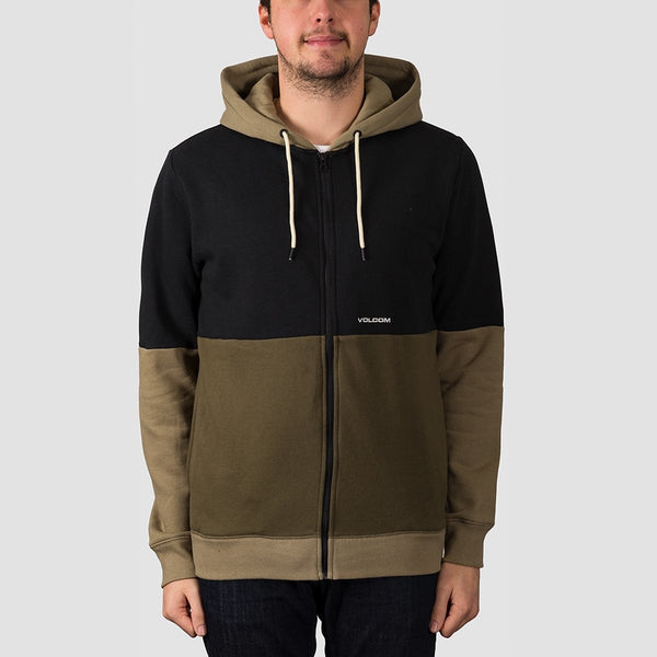 Volcom Single Stone Division Zip Hood Military - Clothing