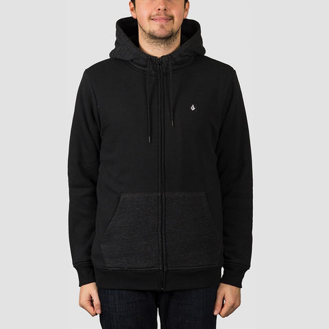 Volcom Single Stone Lined Zip Hood Black