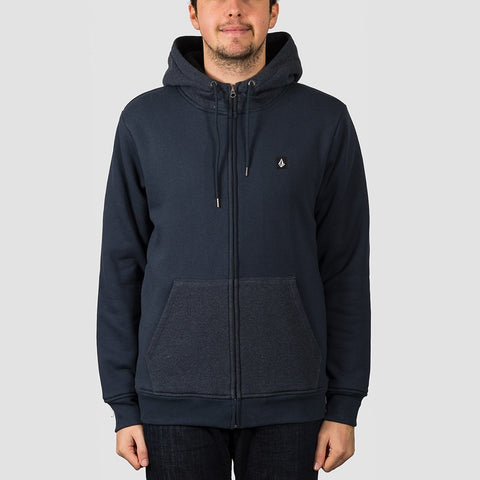 Volcom Single Stone Lined Zip Hood Navy
