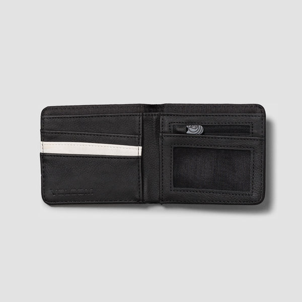 Volcom Slim Stone Pu Wallet Black - Accessories