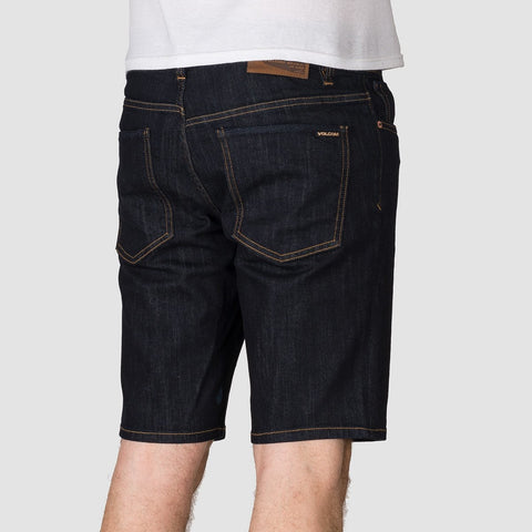 Volcom Solver Denim Shorts Rinse - Clothing