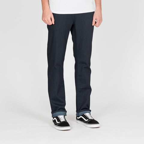 Volcom Solver Modern Tapered Fit Jeans Coated Indigo