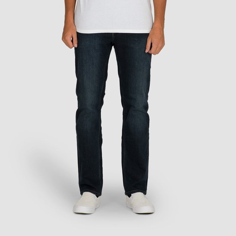Volcom Solver Modern Tapered Fit Jeans Vintage Blue - Clothing