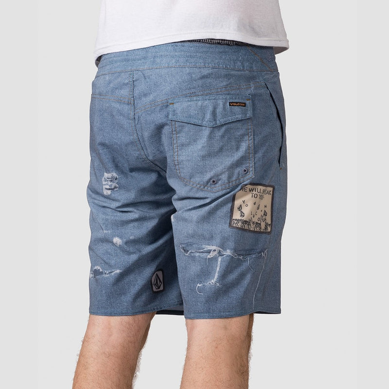 Volcom Solver Stoney 19 Boardshorts Indigo - Clothing