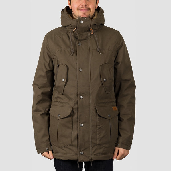 Volcom Starget 5K Parka Jacket Major Brown - Clothing