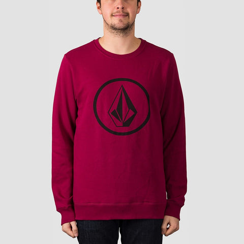 Volcom Stone Crew Sweat Plum