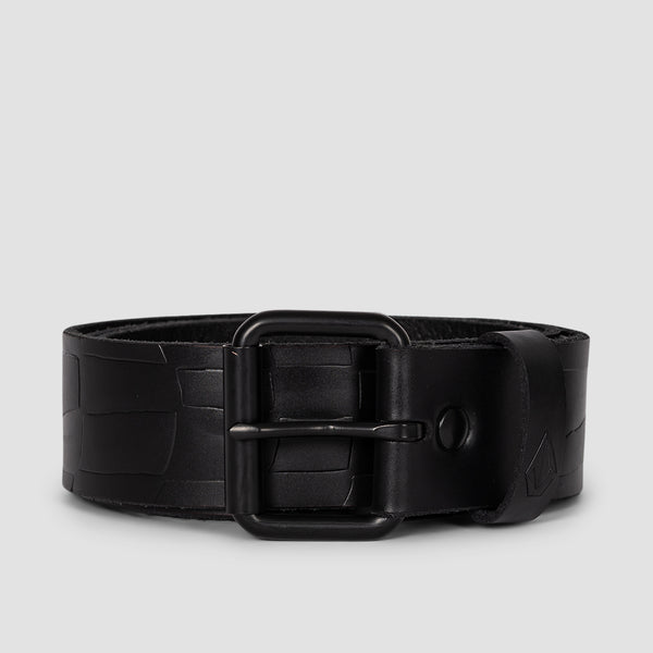 Volcom Stone Mb Leather Belt Black