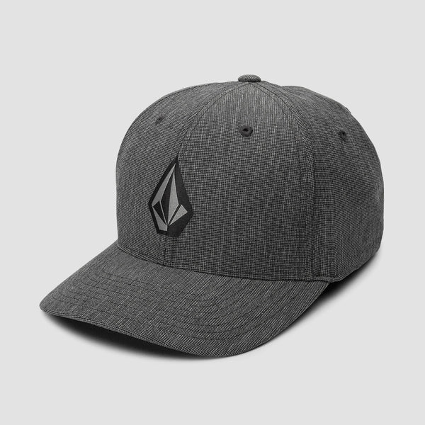 Volcom Stone Tech Xfit Cap Dark Charcoal
