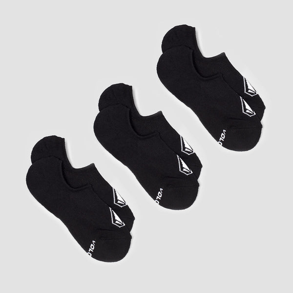 Volcom Stones No Show Socks 3 Pack Black