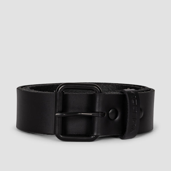 Volcom Straight Leather Belt Black