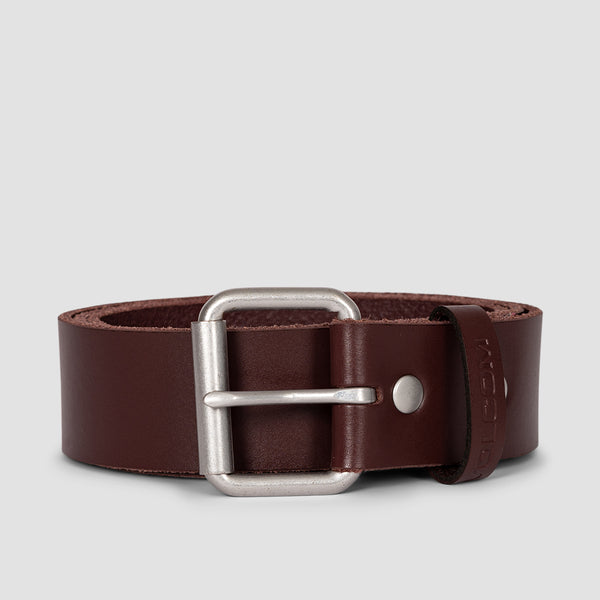 Volcom Straight Leather Belt Brown